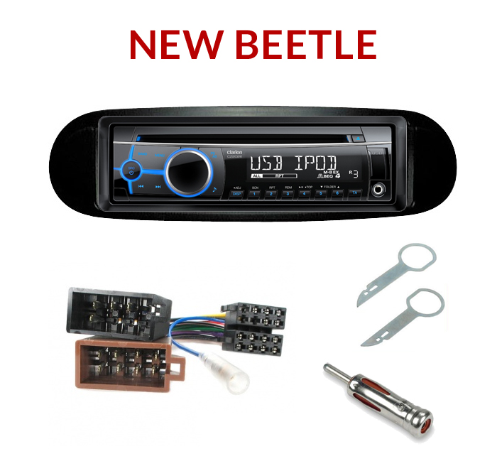 autoradio 1 din vw new beetle poste cd usb mp3 wma clarion vw autoradios. Black Bedroom Furniture Sets. Home Design Ideas