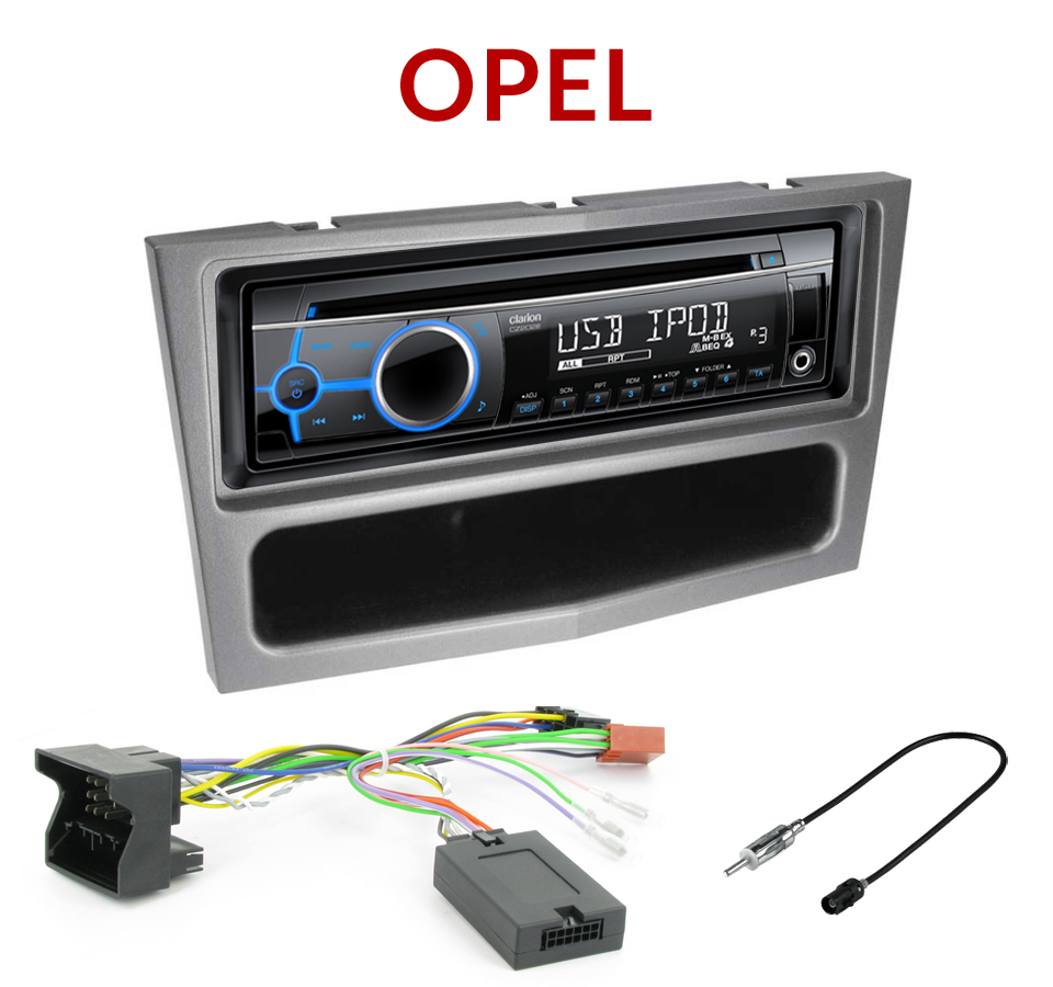 autoradio 1 din opel astra corsa zafira antara poste cd usb mp3 wma clarion autoradios. Black Bedroom Furniture Sets. Home Design Ideas