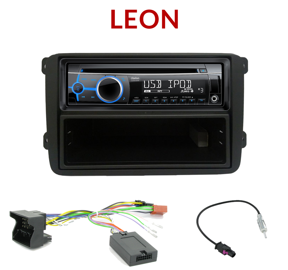 autoradio 1 din seat leon alhambra poste cd usb mp3 wma clarion seat autoradios. Black Bedroom Furniture Sets. Home Design Ideas