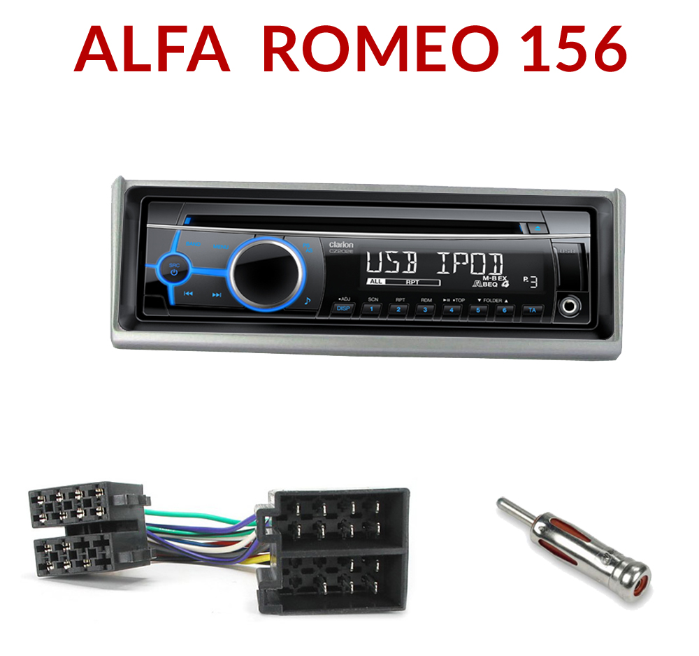 autoradio 1 din alfa romeo 156 fonctions cd usb mp3 wma clarion alfa 156 autoradios. Black Bedroom Furniture Sets. Home Design Ideas