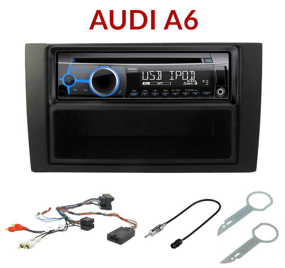 autoradio 1 din audi a6 poste cd usb mp3 wma clarion audi autoradios. Black Bedroom Furniture Sets. Home Design Ideas