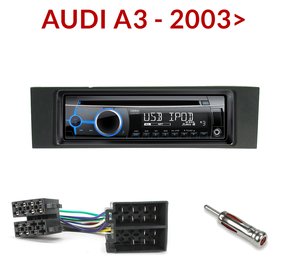 autoradio 1 din audi a3 poste cd usb mp3 wma clarion audi autoradios. Black Bedroom Furniture Sets. Home Design Ideas