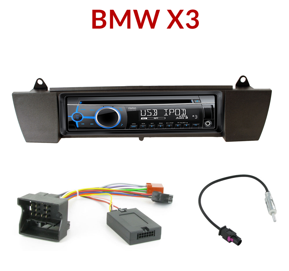 autoradio 1 din bmw x3 poste cd usb mp3 wma clarion bmw autoradios. Black Bedroom Furniture Sets. Home Design Ideas