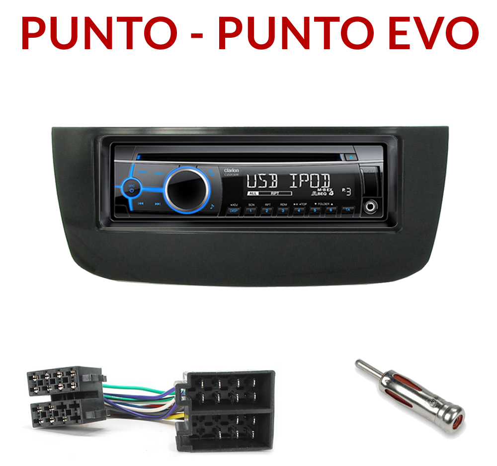autoradio 1 din fiat punto punto evo poste cd usb mp3 wma clarion fiat autoradios. Black Bedroom Furniture Sets. Home Design Ideas