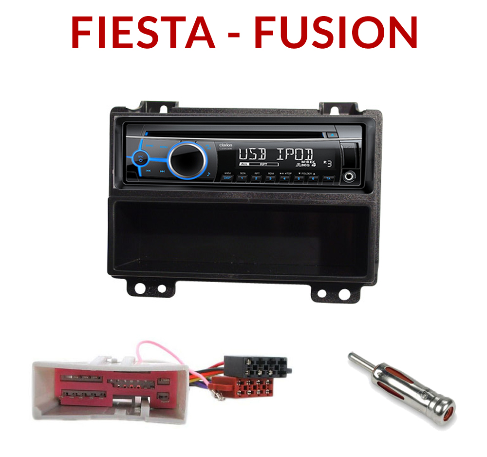 autoradio 1 din ford fiesta fusion poste cd usb mp3. Black Bedroom Furniture Sets. Home Design Ideas