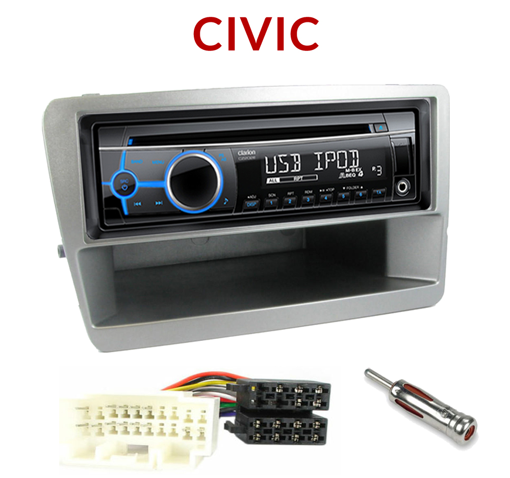 autoradio 1 din honda civic 2001 2003 poste cd usb mp3 wma autoradios. Black Bedroom Furniture Sets. Home Design Ideas