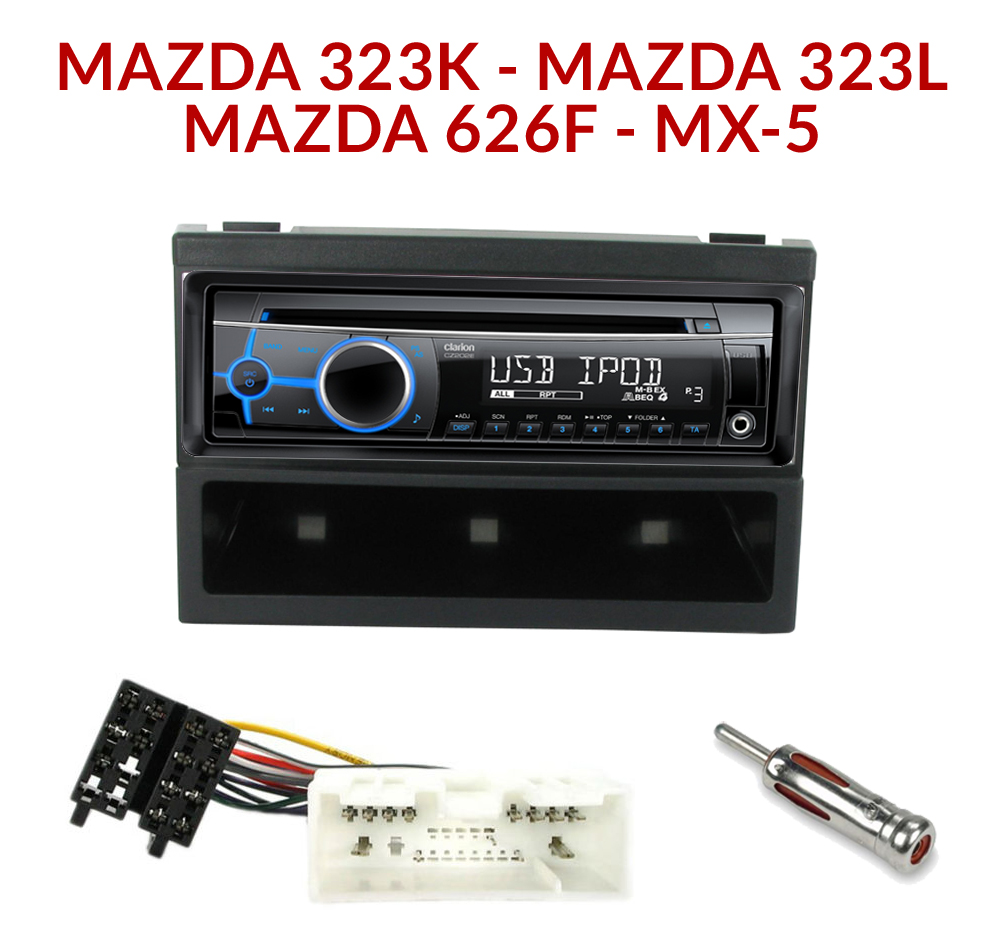 autoradio 1 din mazda 323 f 323 l 626 f et mx 5 poste cd usb mp3 wma autoradios. Black Bedroom Furniture Sets. Home Design Ideas