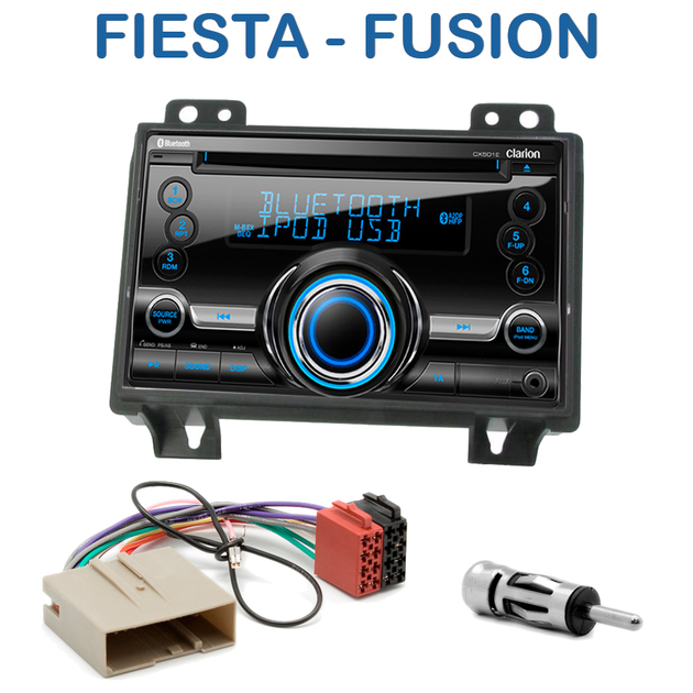 Autoradio 2 din clarion poste cd usb mp3 wma ford fiesta fusion avant 09 2005 autoradios