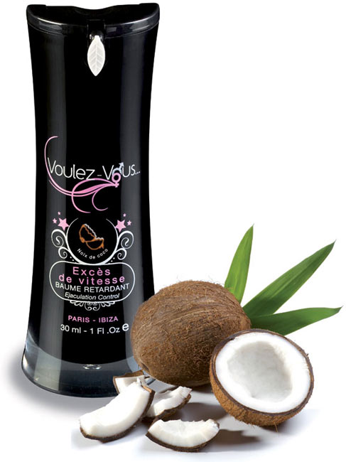 baume retardant exc s de vitesse 30 ml 7 parfums articles rotiques pr servatifs. Black Bedroom Furniture Sets. Home Design Ideas