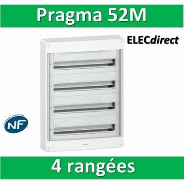 schneider coffret lectrique pragma 52 modules 4 rang es de 13m pra13654 tableau. Black Bedroom Furniture Sets. Home Design Ideas