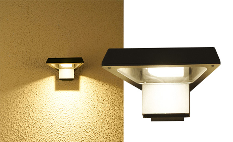 Applique murale exterieure led cob bates forme trap ze for Applique murale exterieur carre