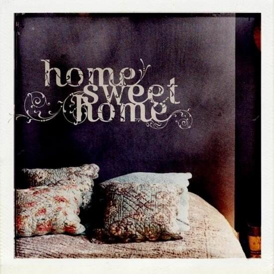 Sticker mural home sweet home d co stickers et papiers for Deco home sweet home