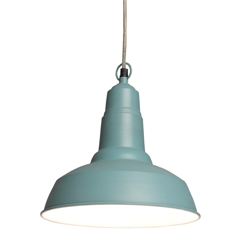Petite suspension industrielle bleu luminaire for Suspension industrielle cuisine