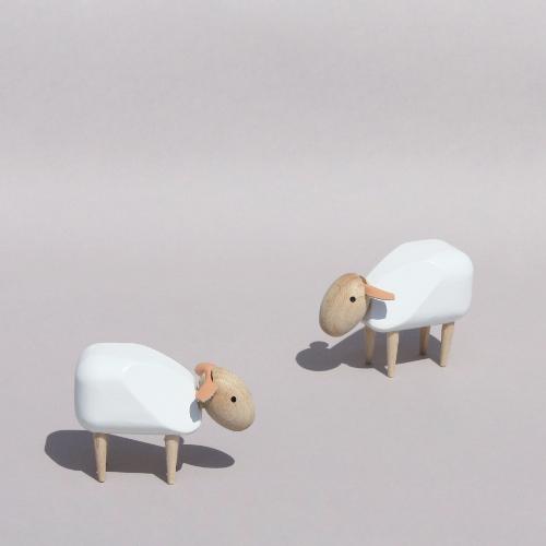 Mouton Miniature Design Blanc En Bois D Co Objets De