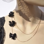 Double collier - Accroche coeur