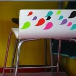 18 petits stickers Gouttes - Couleur