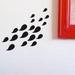 18 petits stickers Gouttes - Noir