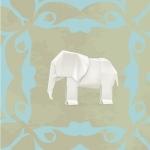 Lé de papier peint - 192013E - Elephant origami