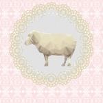 Lé de papier peint - 102013E - Mouton
