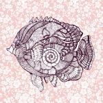 Lé de papier peint - 042013E - Poisson