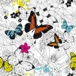Lé de papier peint - 032013E - Papillons