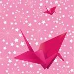 Lé de papier peint - 092013E - Origami rose