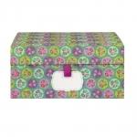 Moyenne boite de rangement - Petite fleur - Vert
