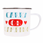 Mug métal émail - Carry on Camping