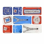 Boite de 9 magnets - Bonjour Paris