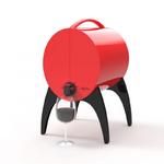 Winy Bar Rouge - Fontaine de table pour vin en cubi et bag in box 3 litres