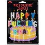Bougies d'anniversaire HAPPY FUCKING BDAY