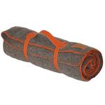 Plaid laine Gris finition Point de Cheval Orange - Midipy