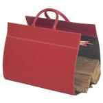 Range Bûches cuir Rouge - Midipy