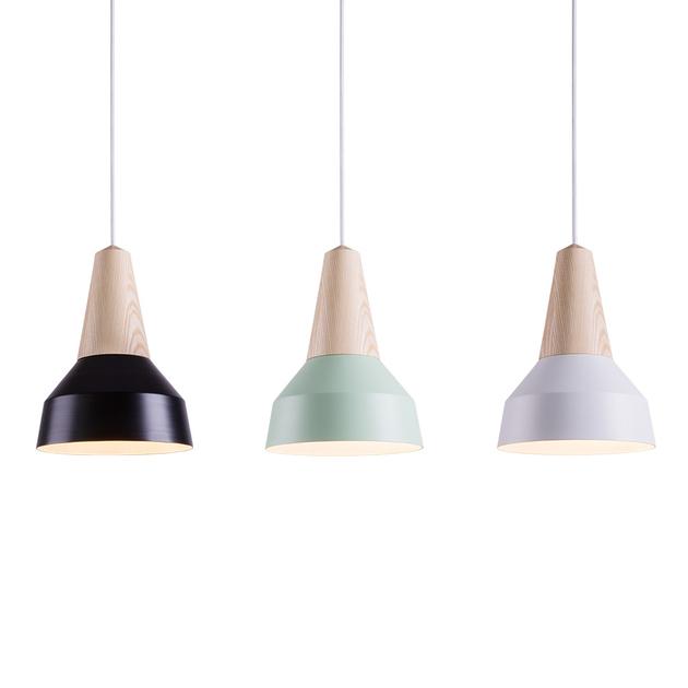 Lampe suspension eikon m tal noir luminaire for Suspension 3 lampes pour cuisine