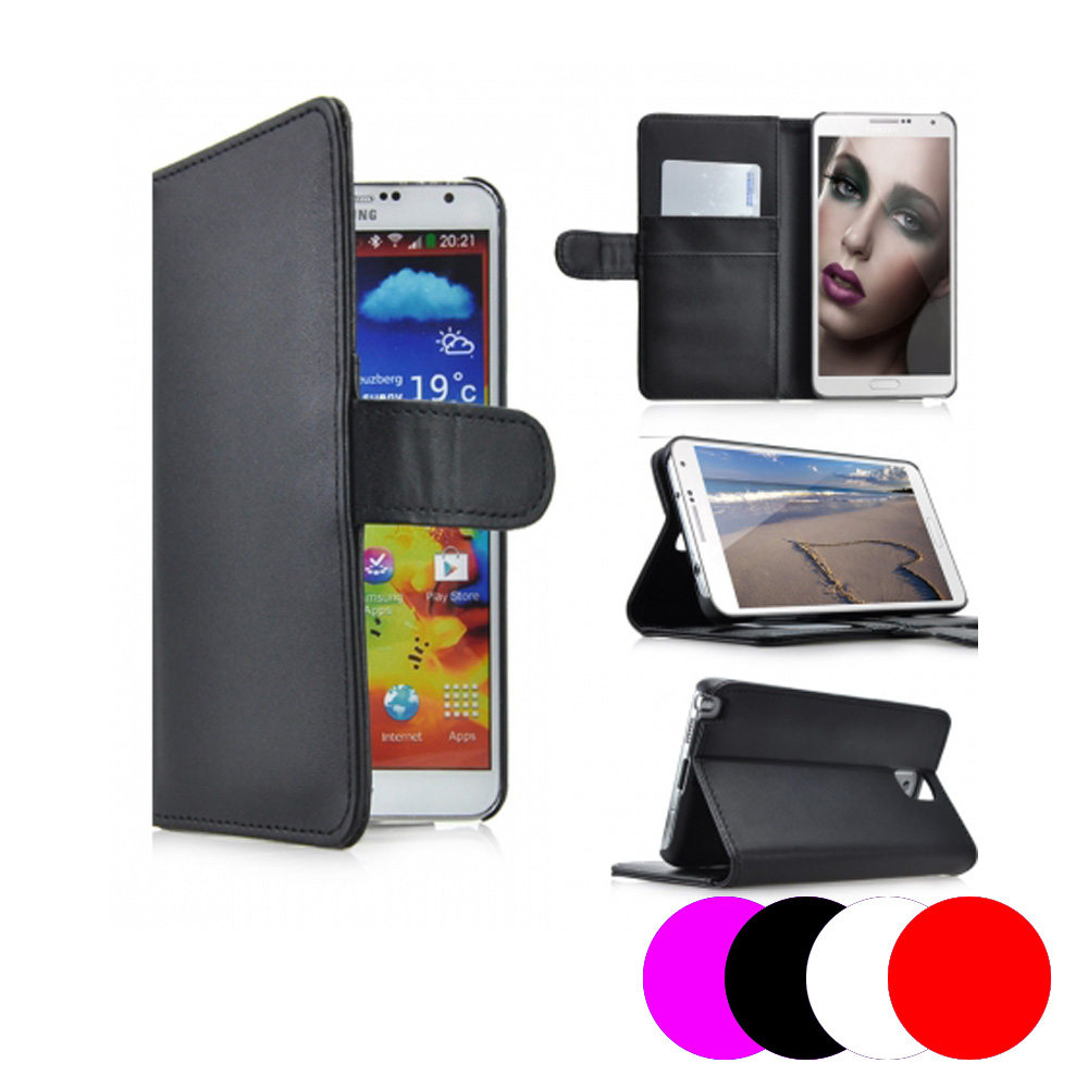 etui housse coque portefeuille samsung galaxy note 3 ebay. Black Bedroom Furniture Sets. Home Design Ideas