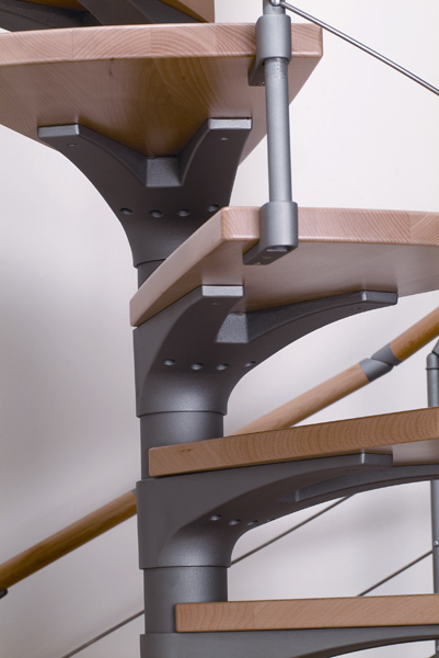 escalier h lico dal dolle en acier galvanis 160 cm escalier. Black Bedroom Furniture Sets. Home Design Ideas