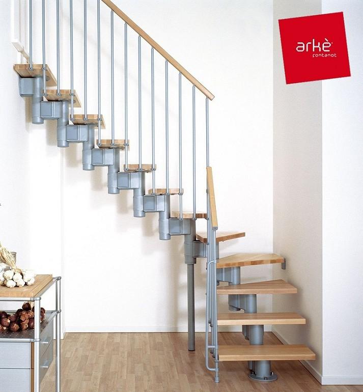 escalier ark kompact en m tal et h tre massif 70 cm. Black Bedroom Furniture Sets. Home Design Ideas