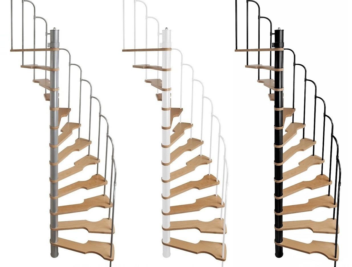 Escalier semi h lico dal steinhaus 70x140 cm escalier colima on - Escalier gain de place quart tournant ...