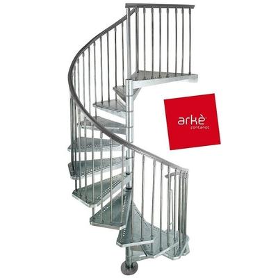 escalier h lico dal ext rieur ark civik acier galvanis 140 cm. Black Bedroom Furniture Sets. Home Design Ideas