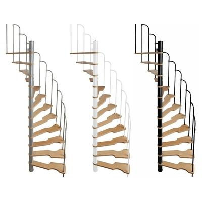 Escalier semi h lico dal steinhaus 70x140 cm escalier colima on - Escalier spirale pas cher ...