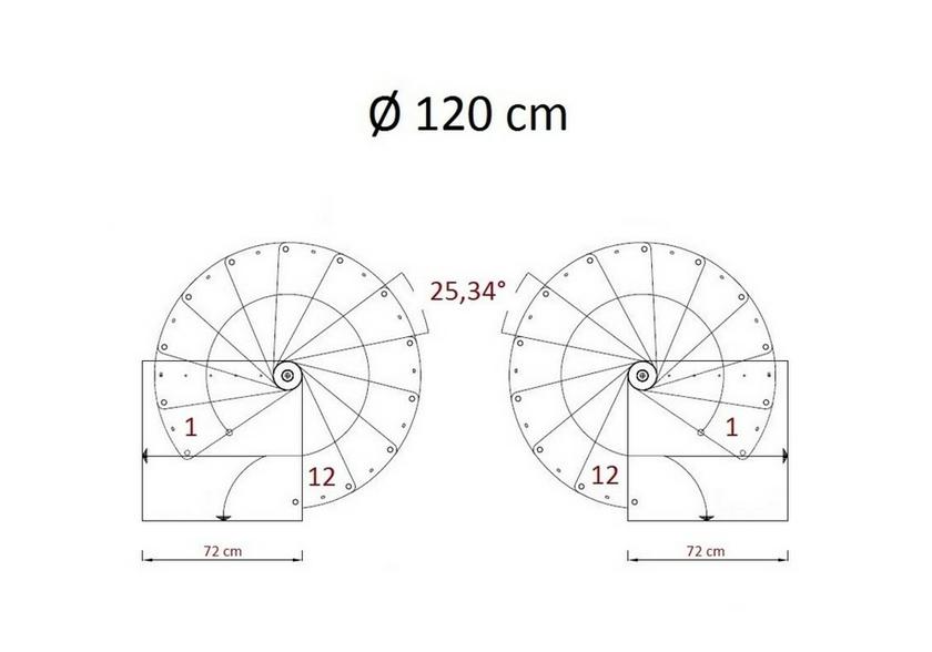 Escalier h lico dal steinhaus bordeaux en acier et h tre for Escalier circulaire pas cher