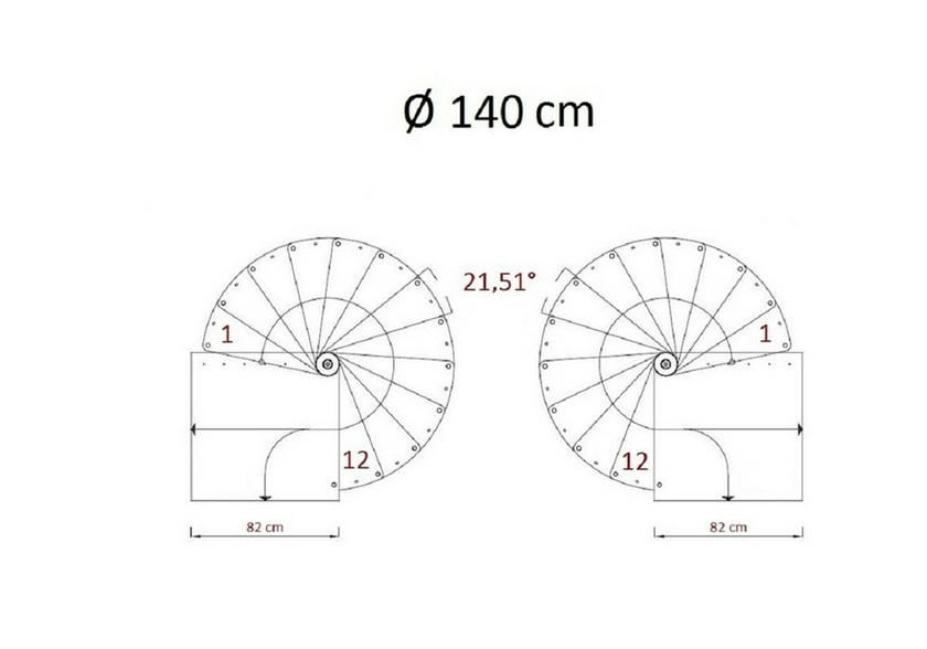 Escalier helicoidal design images - Escalier colimacon plan ...