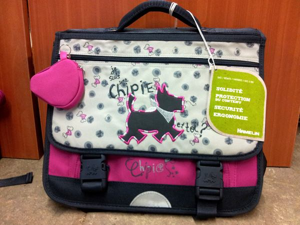 cute school bags sac ecole chipie. Black Bedroom Furniture Sets. Home Design Ideas