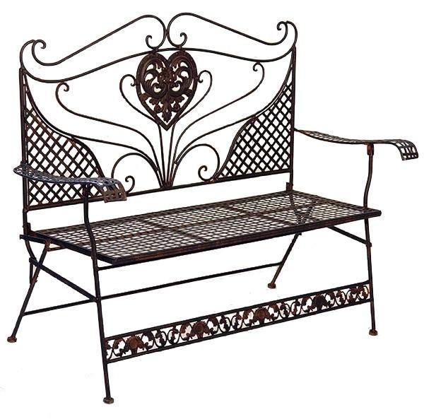 Banc de jardin style anglais victorien en fer forg brun mobilier et d cora - Fer forge en anglais ...
