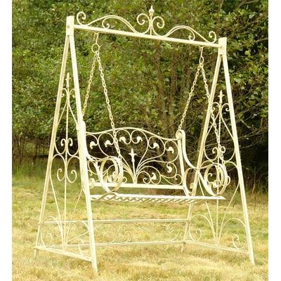 balancelle style anglais victorien en fer forg blanc. Black Bedroom Furniture Sets. Home Design Ideas