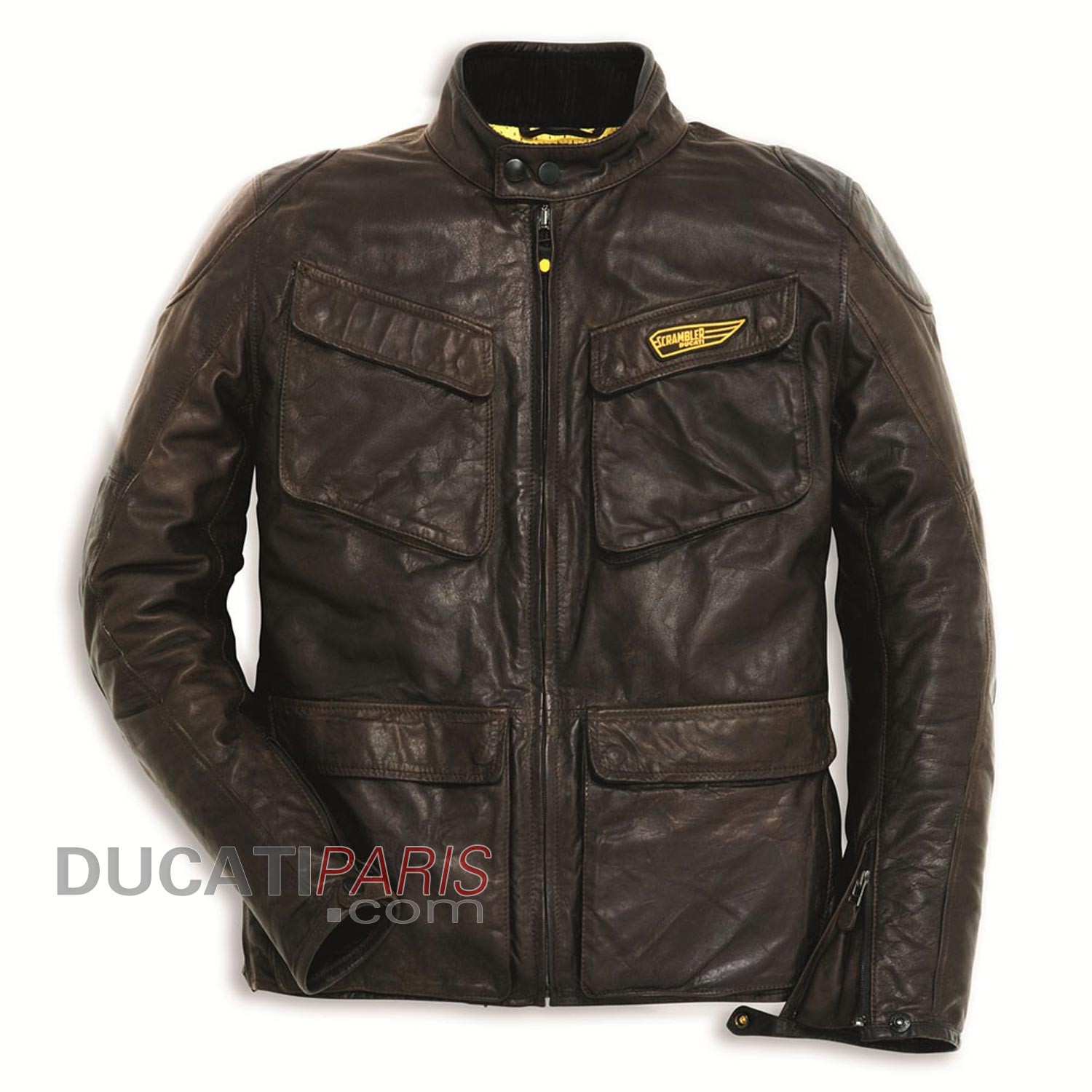blouson cuir ducati scrambler quattrotasche blouson et. Black Bedroom Furniture Sets. Home Design Ideas
