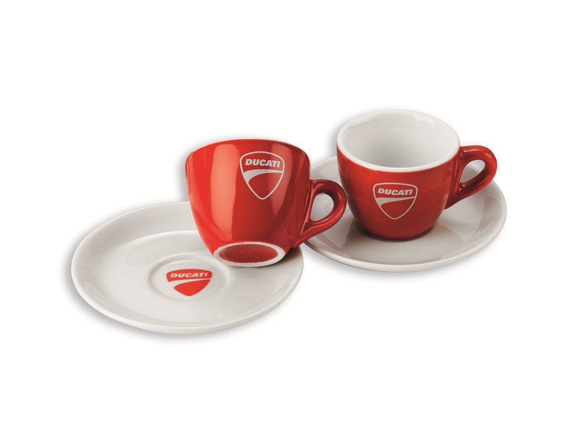 set de 2 tasses caf ducati company tasse service de tasse. Black Bedroom Furniture Sets. Home Design Ideas
