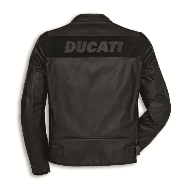 blouson en cuir ducati company c2 noir blouson et veste. Black Bedroom Furniture Sets. Home Design Ideas