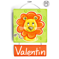 Plaque de porte personnalisable Lion