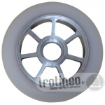 Roue Eagle Spoked Alu / Blanc 100mm